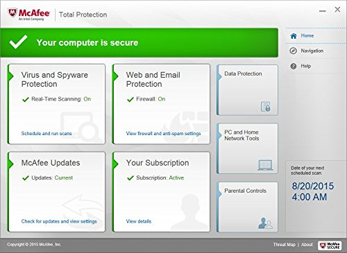 McAfee Total Protection 2016 Unlimited Devices (PC/Mac/Android/iOS) [Online Code]