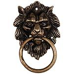 Golden Hair Lion Door Pull 4''