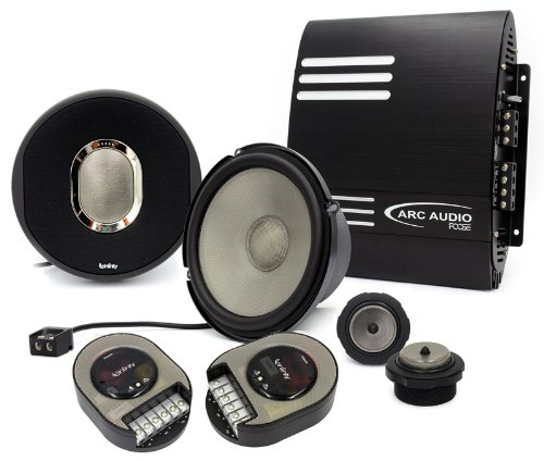 "Pkg 60.9Cs Infinity 6.5"" Kappa Component Speakers + Fd2100 Arc Audio 2-Channel 190W Rms Car Amplifier"