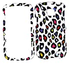 Straight Talk Samsung Galaxy Proclaim Rainbow Leopard Rubberized Rubber Coated HARD Design HARD Case Skin Cover Cell Phone Accessory 720C SCH-S720C