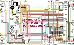 1968 Chevy BelAir - Biscayne & Impala Color Wiring Diagram