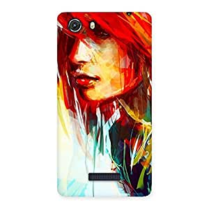 Enticing Art Girl Beauty Multicolor Back Case Cover for Micromax Unite 3