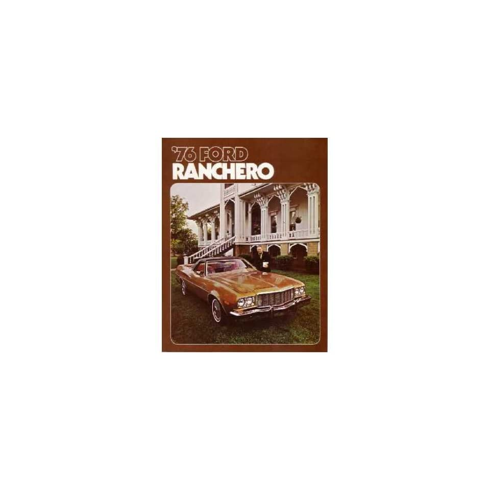 1976 Ford Ranchero Sales Brochure Literature Book Piece Advertisement Options