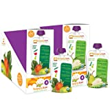 Happy Tot Organic Variety Pack Pouches, Spinach Mango Pear and Green Bean Pear Pea, 4.22 Ounce (Pack of 16)