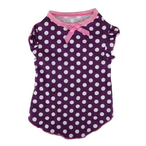 Cute Polka Dot Dog Clothes Cozy pet dog puppy T Shirt Summer Apparel Vest