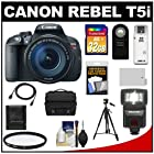 Canon EOS Rebel T5i Digital SLR Camera & EF-S 18-135mm IS STM Lens with 32GB Card + Battery + Case + Flash + Filter + Remote + Tripod + Accessory Kit