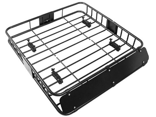 TMS %RoofTopRack-NS-TR001 Black Cargo Roof Rack (Car Top Luggage Holder Carrier Basket Travel SUV) (Long Cargo Rack compare prices)