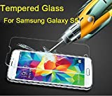eTECH Collection 1 piece of Premium Tempered Glass Screen Protector for Samsung Galaxy S5 / SV / i9700 -- Highest Quality Premium Anti-Scratch Bubble-free Reduce Fingerprint No Rainbow Washable Screen Protector Easy Install Product [0.33mm, 2.5D Rounded Edges] - Free Shipping From USA