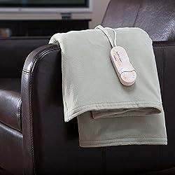 Biddeford Blankets Comfort Knit Electric Heated Throw Blanket