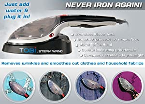 Tobi Wand Travel & Home Clothes and Fabric Steamer