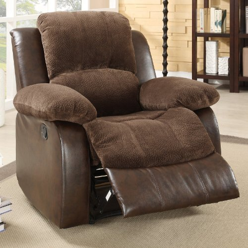 Homelegance 9700FCP-1 Upholstered Recliner Chair Dark Brown Textured with Plush Microfiber and Faux & Cheap Recliners Archives « Recliners Sale Recliners Sale islam-shia.org