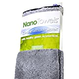 Nano Towels - Amazing Eco Fabric That Cleans Virtually Any Surface With Only Water. No More Paper Towels Or Toxic Chemicals. (Grey)