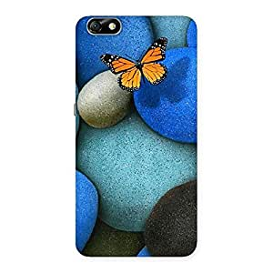 Stylish Pebbls and Butterfly Multicolor Back Case Cover for Honor 4X