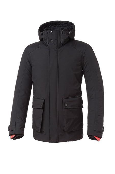 Tucano urbano 8937MF022N6 paRK-respirant, étanche et coupe-vent longueur moyenne parka veste pour homme noir taille xL