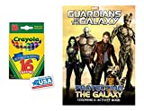Protecting The Galaxy Coloring & Activities Book and 16 Crayola Crayons Box (Pack of 2)