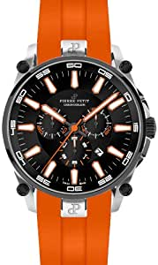 Pierre Petit Herren-Armbanduhr XL Le Mans Chronograph Quarz Silikon P-817C
