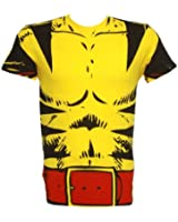 Marvel Wolverine Costume Men's Yellow T-shirt