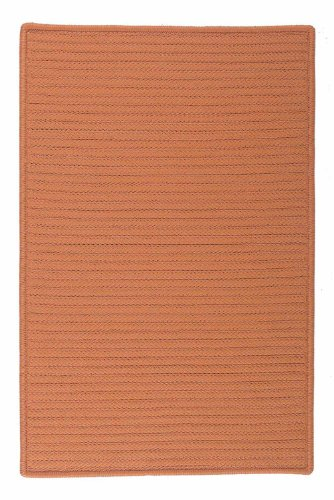Indoor/Outdoor American Made Textured Rug 2-Feet by 4-Feet Rust Carpet