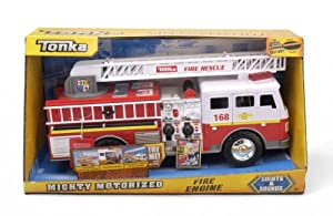 Toy / Game Tonka Motorized Mighty Fire Truck With Realistic Hyper-Lighting - Perfect For Indoor Play!
