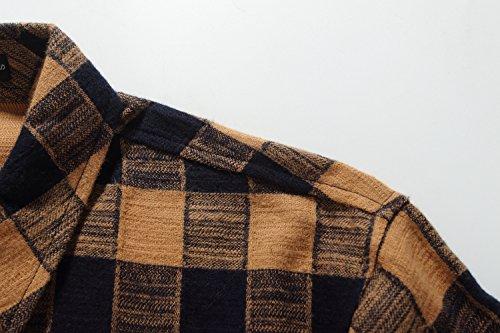 SSLR Men's Gingham Flannel Vintage Long Sleeve Shirt 2
