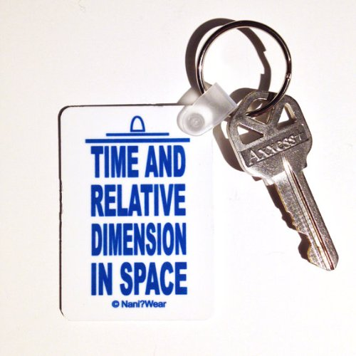 Doctor Who Keychain Rectangle Short: 'Time And Relative Dimension In Space'