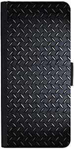 Snoogg Steel Texture Designer Protective Phone Flip Case Cover For Lenovo Vibe S1