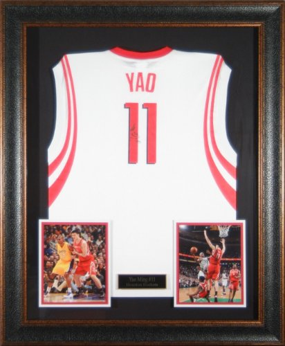 Jerseys NBA: Yao Ming Signed Jersey - matted framed - Autographed ...