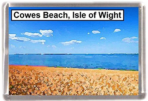 Kühlschrankmagnet Cowes Strand Wight Geschenk Tourist Souvenir