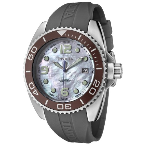 Invicta Women's 0483 Angel Collection Stainless Steel Grey Polyurethane Strap Watch