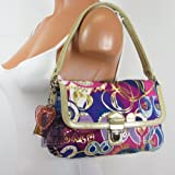 51FSQiluZ5L. SL160  Coach Limited Edition Poppy Pop C Layla Flap Shoulder Handbag   Coach 18363PNK