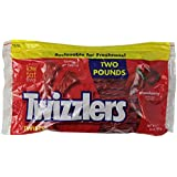 Twizzlers Twists, Strawberry, 2-Pound Pouches (Pack of 6)