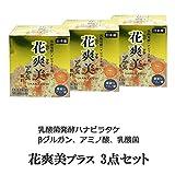 βグルカン 含有 ハナビラタケ加工食品 花爽美プラス (乳酸発酵ハナビラタケ粉末) 30包入 3点セット