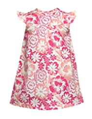 Budding Bees Girls Infant Pink Floral A-line Dress