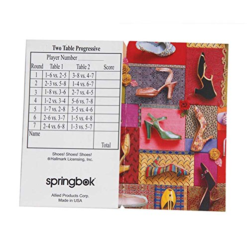 Springbok Puzzles Shoes! Shoes! Shoes! Bridge Tally Sheets - 1