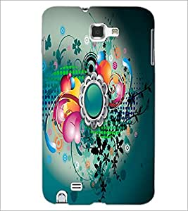 PrintDhaba Digital Abstract D-2084 Back Case Cover for SAMSUNG GALAXY NOTE 1 (Multi-Coloured)