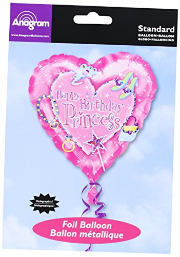 Anagram International A11975401 Princess Birthday Prism Balloon Pack, 18""