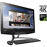 2017 Lenovo IdeaCentre 24 Inch UHD 4K All-In-One Touchscreen Desktop, Intel Core I5-6400 2.7 GHz NVIDIA GeForce GTX 950A 2GB GDDR5, 8GB RAM 1TB + 8GB Hybrid HDD DVD +/- RW HDMI, Windows 10