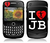 MusicSkins Justin Bieber - I Heart JB Skin for BlackBerry Curve 8520/8530