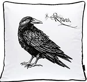 Amazon.com: Cushion Cover Cojines Black White Bed Printed Animal Birds
