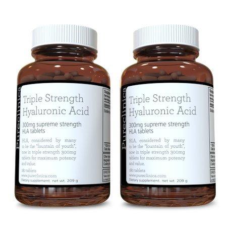 Acido ialuronico a tripla forza 300mg x360compresse (2 flaconi da 180 compresse cadauna,6 mesi di fornitura)SKU: HLA3x2