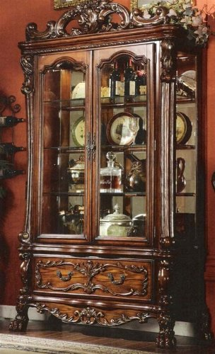 Picture of Acme Furniture Curio China Cabinet in Brown Cherry Finish (VF_AM12158) (China Cabinets)