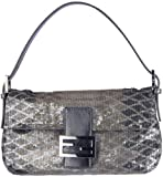 Fendi Baguette Python-Pattern Sequin Evening Bag