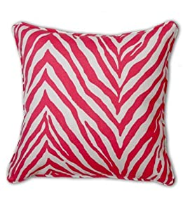 Amazon.com: Decorative Throw Pillow Cover Animal Print Pink and White Zebra Print for Couch ...
