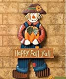 Happy Fall Y all Hanging Scarecrow Seasonal Thanksgiving and Fall Decor