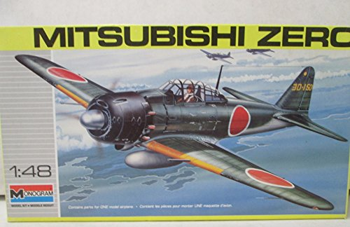 Monogram Mitsubishi Zero 1:48 Model Kit - 1