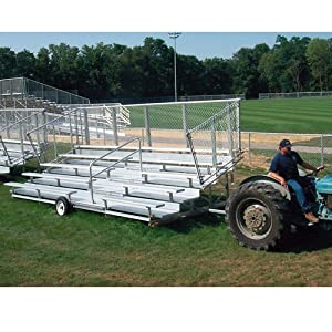 Portable Bleachers 24L, 5 Rows 80 Seats - Preferred Series from TACVPI