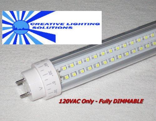 Dimmable LED SMD T10 Tube Light, 4 FT Day White, 18W, 290LED, 120V