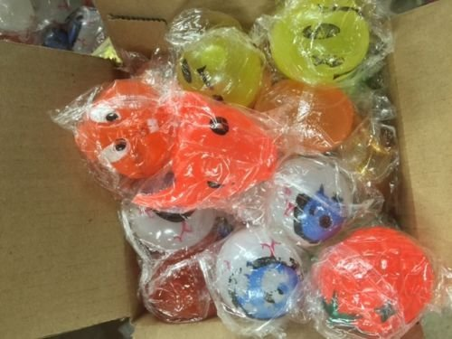 For Sale! 50 Assorted Squishy Splat Ball Misprints (Box of 50 Splats)