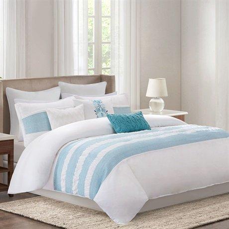 Echo Bedding Crete Comforter Set, Queen, Teal