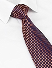 Savile Row Inspired Made in England Pure Silk Embroidered Tie